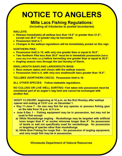 Bass Pundit Mille Lacs Regs This Year