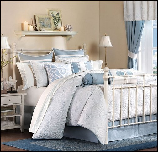 Decorating theme bedrooms maries manor seaside cottage for Home designs comforter