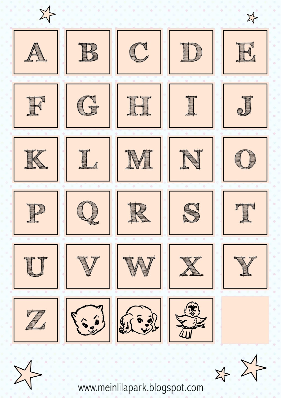 It is an image of Candid Free Printable Alphabet