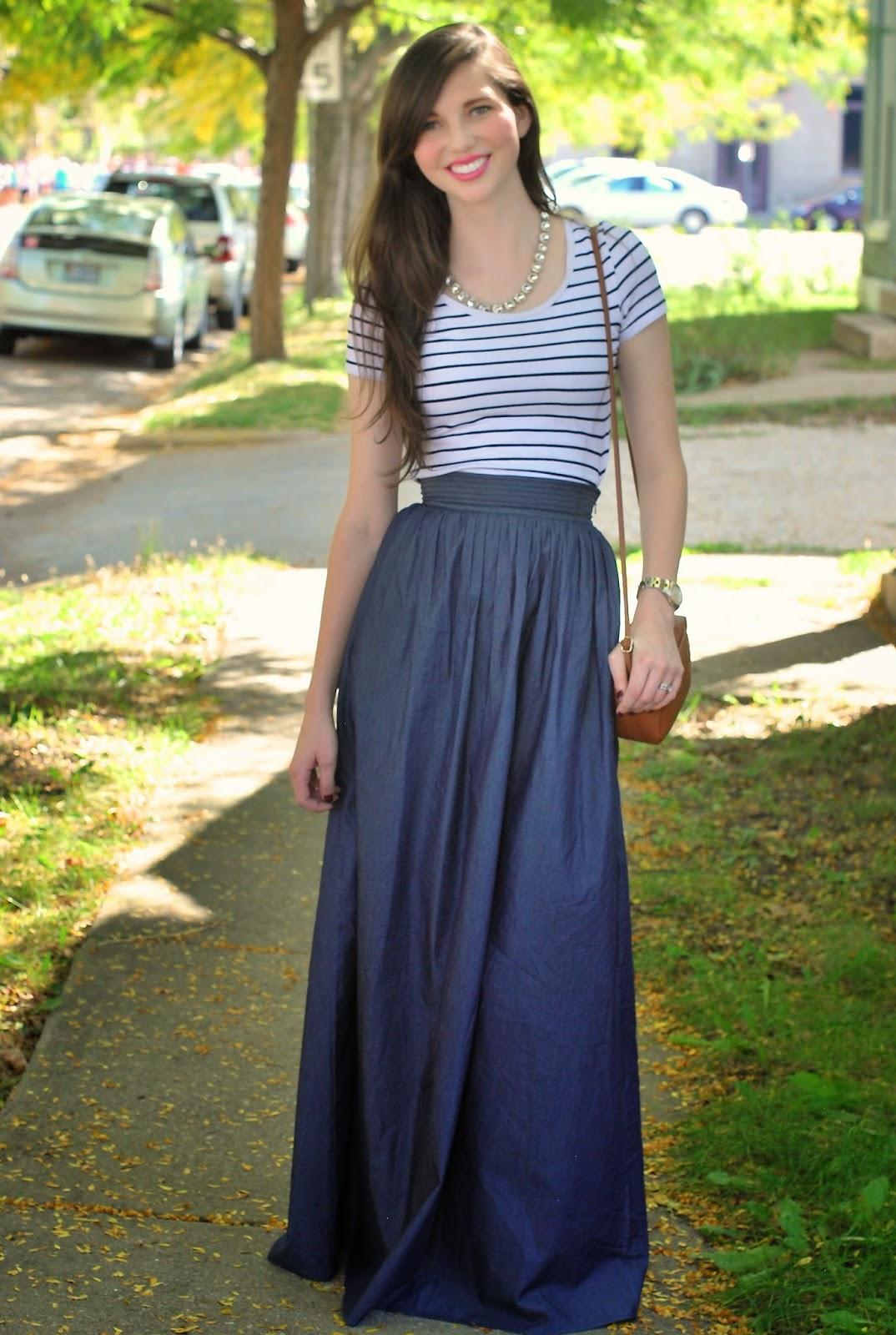 s favorite things chambray maxi skirt