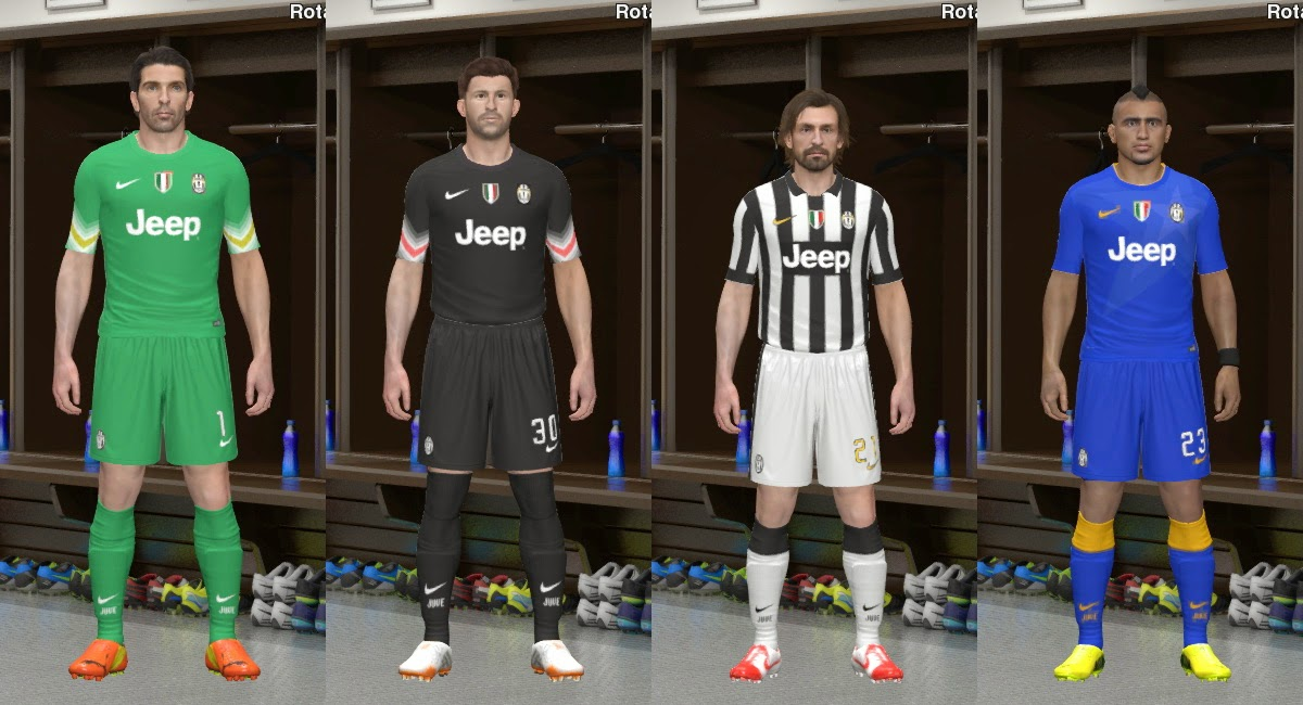 PES 2014 Juventus F.C. 2014-2015 Kit Set by BeasT