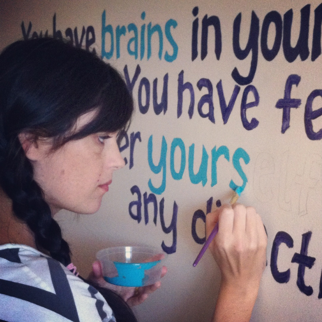 How to Paint Quotes on Walls