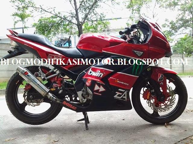 Modifikasi Yamaha Vixion Model Ninja 250
