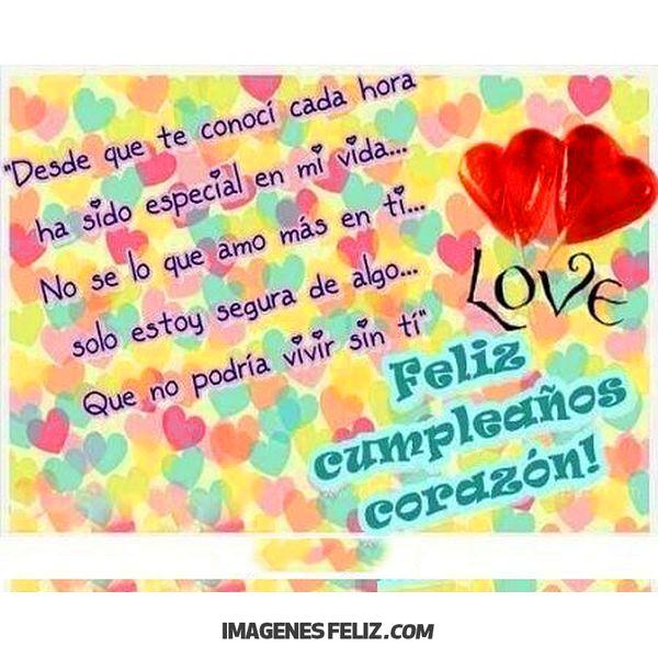 Feliz Cumpleanos Amor Imagenes Frases Bonitas