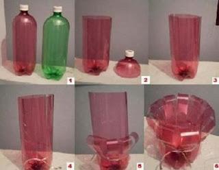 Porta Velas con Botellas de Plastico, Manualidades para Navidad, Paso a Paso