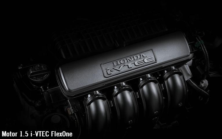 O motor dele é 1.5 i-VTEC FlexOne com 116 cvs