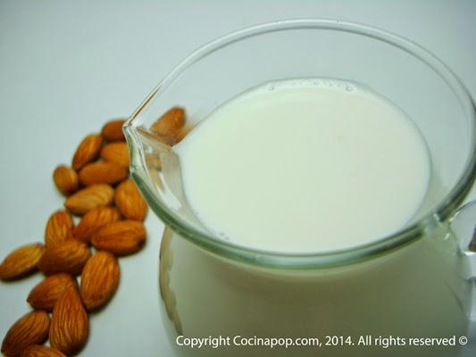 Receta para hacer leche de almendras casera