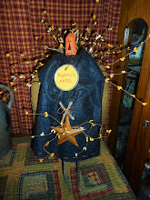 PRIMITIVE PUMPKIN ANGEL DOOR HANGER