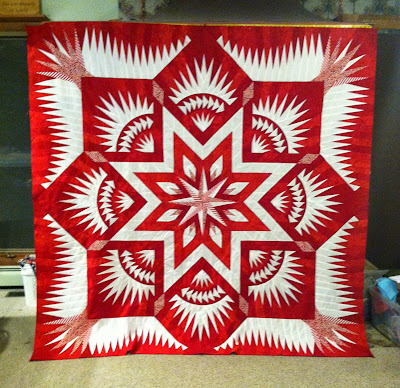 Red and White Quilt, Prairie Star - Judy Niemeyer quilt pattern