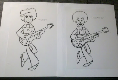 inking tito and jermaine for the upcoming dvd set of the 1970s rankinbass jackson 5 tv cartoon from classic media 8