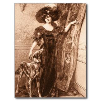 Mujer con galgo