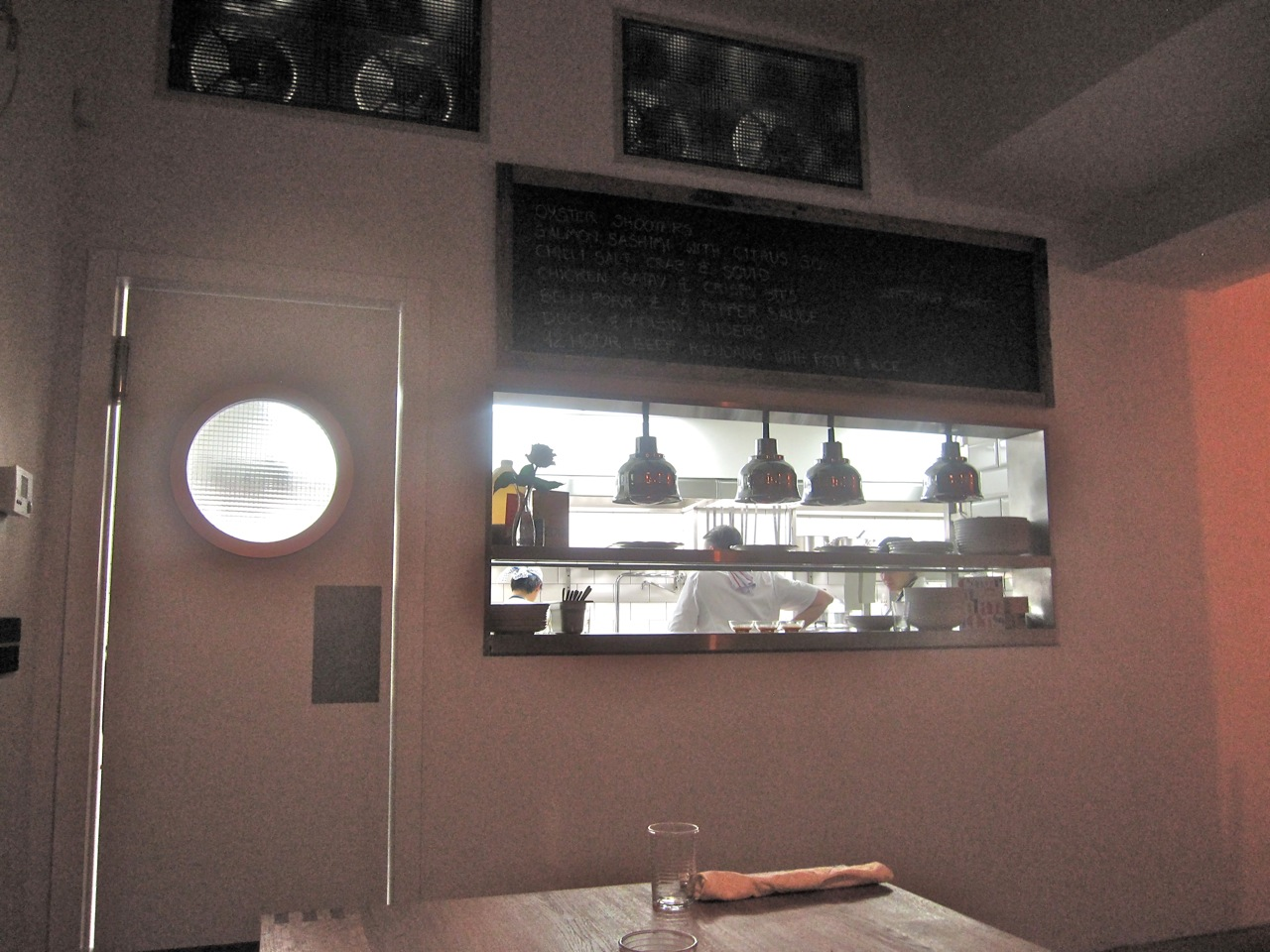 Restaurant Kitchen Window czech please: sansho