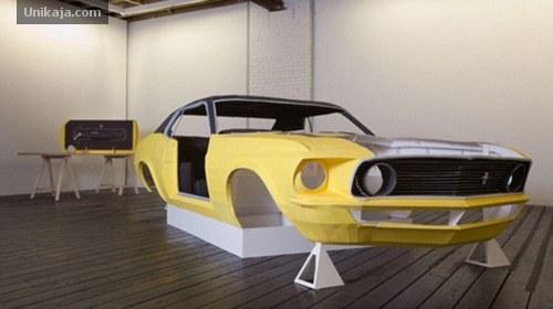 Mobil Kertas Ford Mustang buatan Jonathan Brand