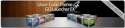 Silver Cube Theme 4 Go Launcher