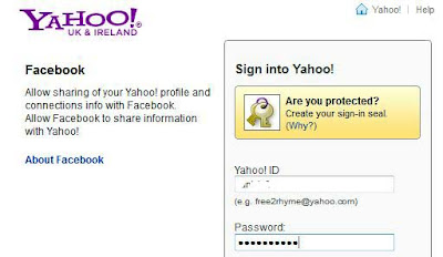 link facebook with yahoo