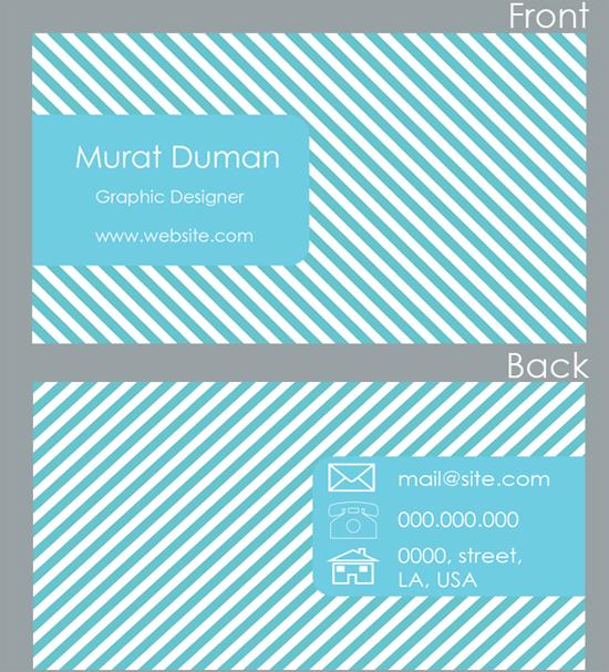 Free Fresh Blue Business Card