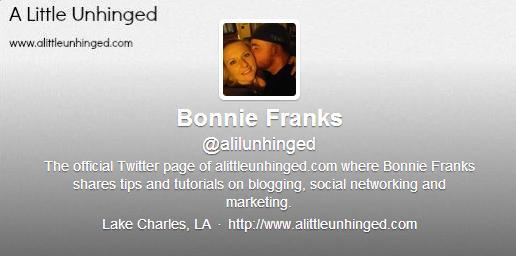 """<img src=""""bonnietwitter.jpg"""" alt=""""Bonnie Franks Twitter"""">"""