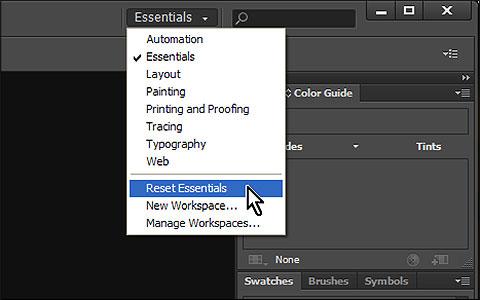 Where Are The Undo Preferences For Adobe Illustrator On The Mac reset-workspace-illustrator-cs6