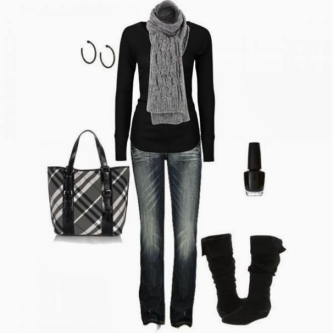 Black and grey fall fashion outfits