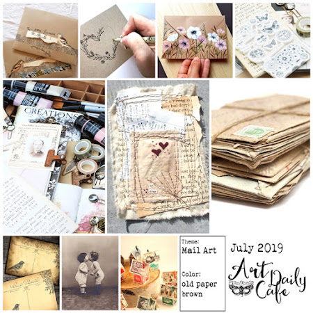 ArtDailyCafe - mail art_old paper brown