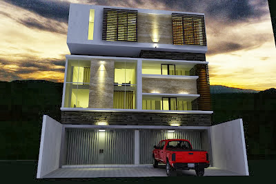 Desain Ruko   Rumah Toko   2 Lantai Minimalis Modern Terbaru 2014