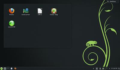 openSUSE 12.3 - Default KDE Desktop