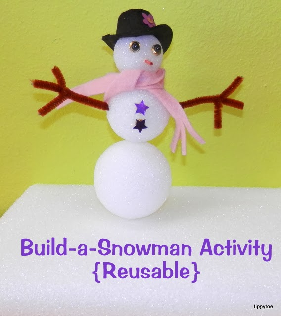 Tippytoe Crafts: Reusable Snowman Building Activity