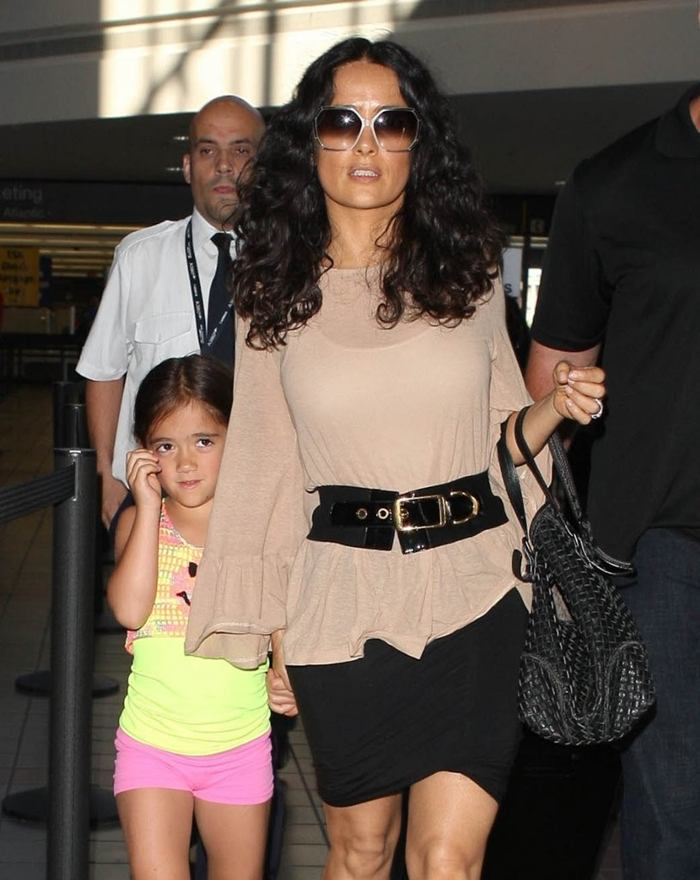 Salma Hayek at LAX Airport LA-8