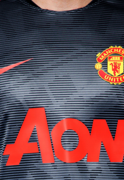 Nike Manchester United Black Squad Prematch Performance Top 2015