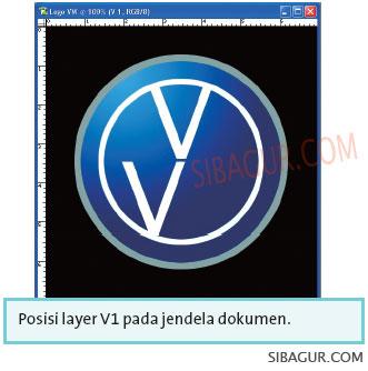 Menggambar Logo VW