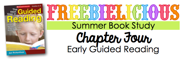 Summer Book Study: Early Guided Reading Ideas