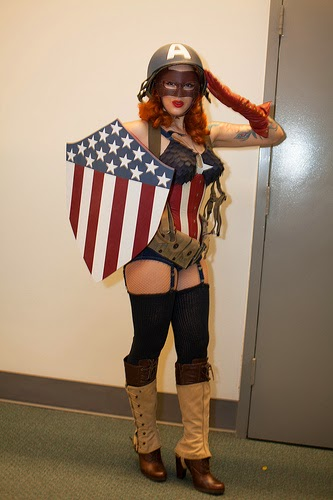 Captain America Girl -- Winter Soldier