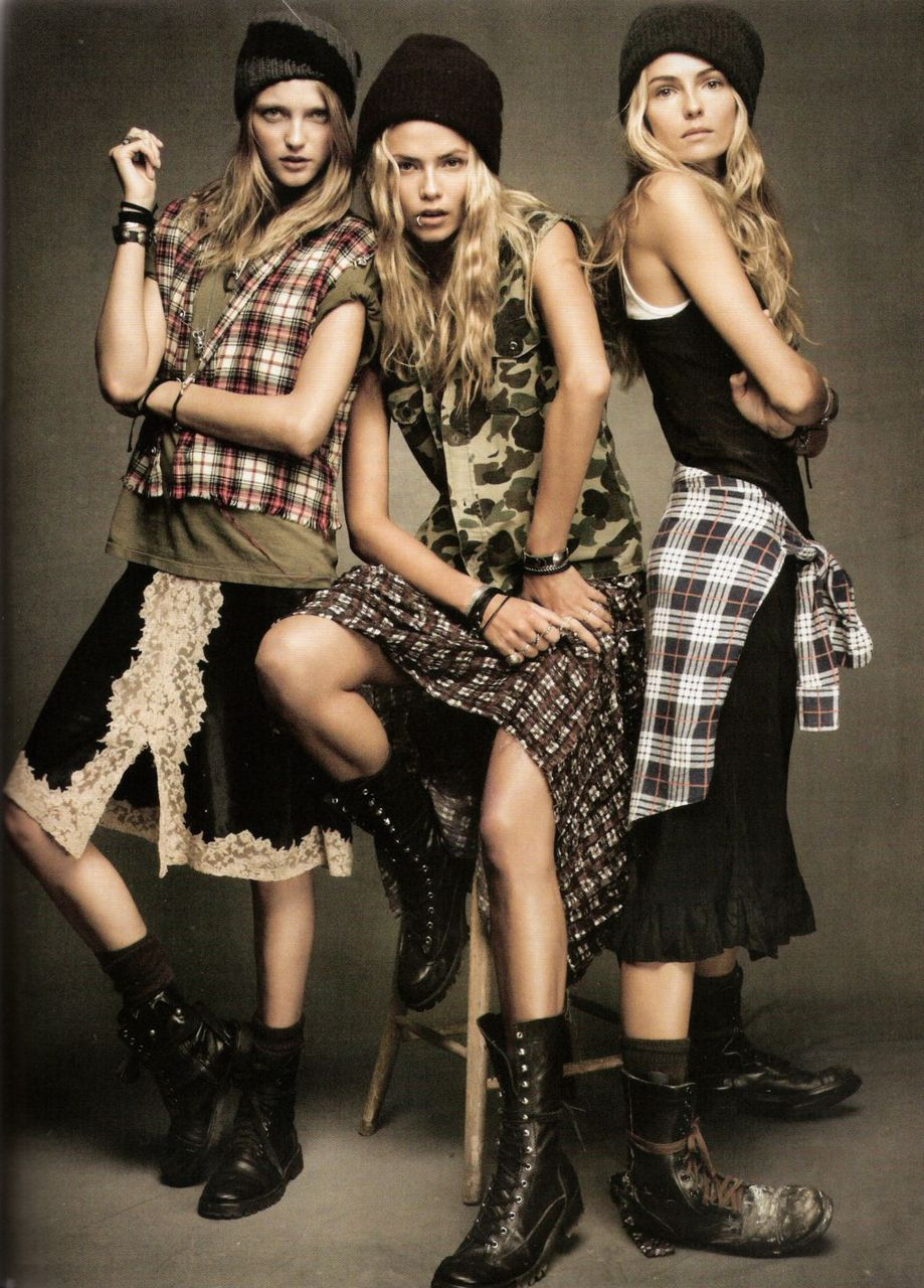 Rebellious style such as grunge is picked up by mainstream fashion on