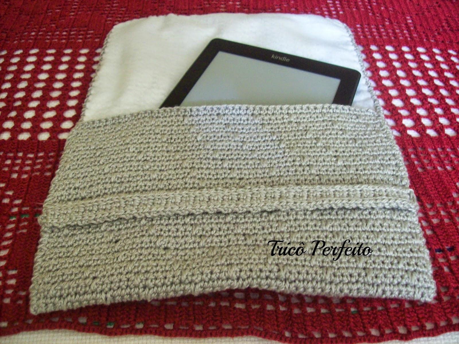 Capa de crochê para Kindle