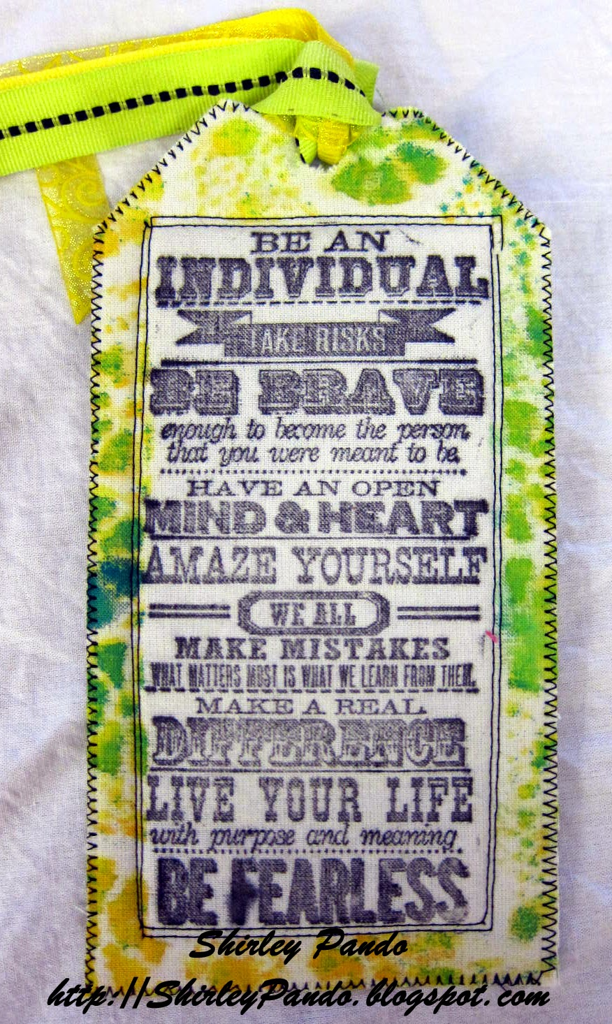 Stamped Fabric Tag