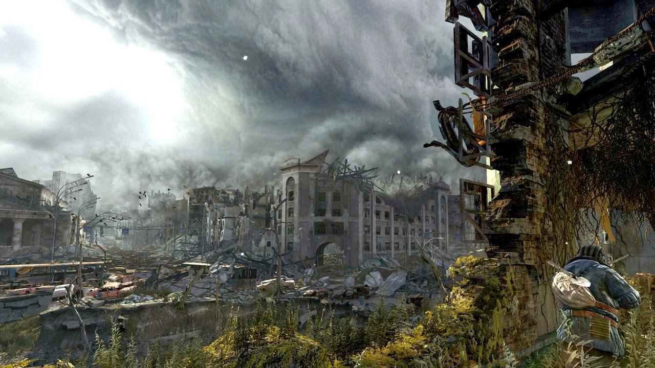 Video games ruins apocalypse artwork