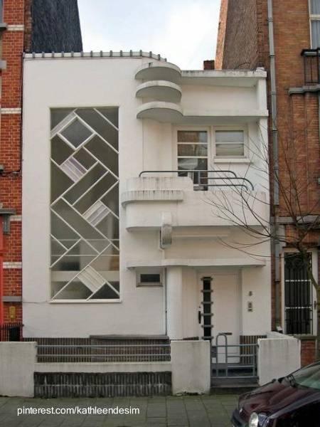 Fachada Art Decó y Racionalista combinada