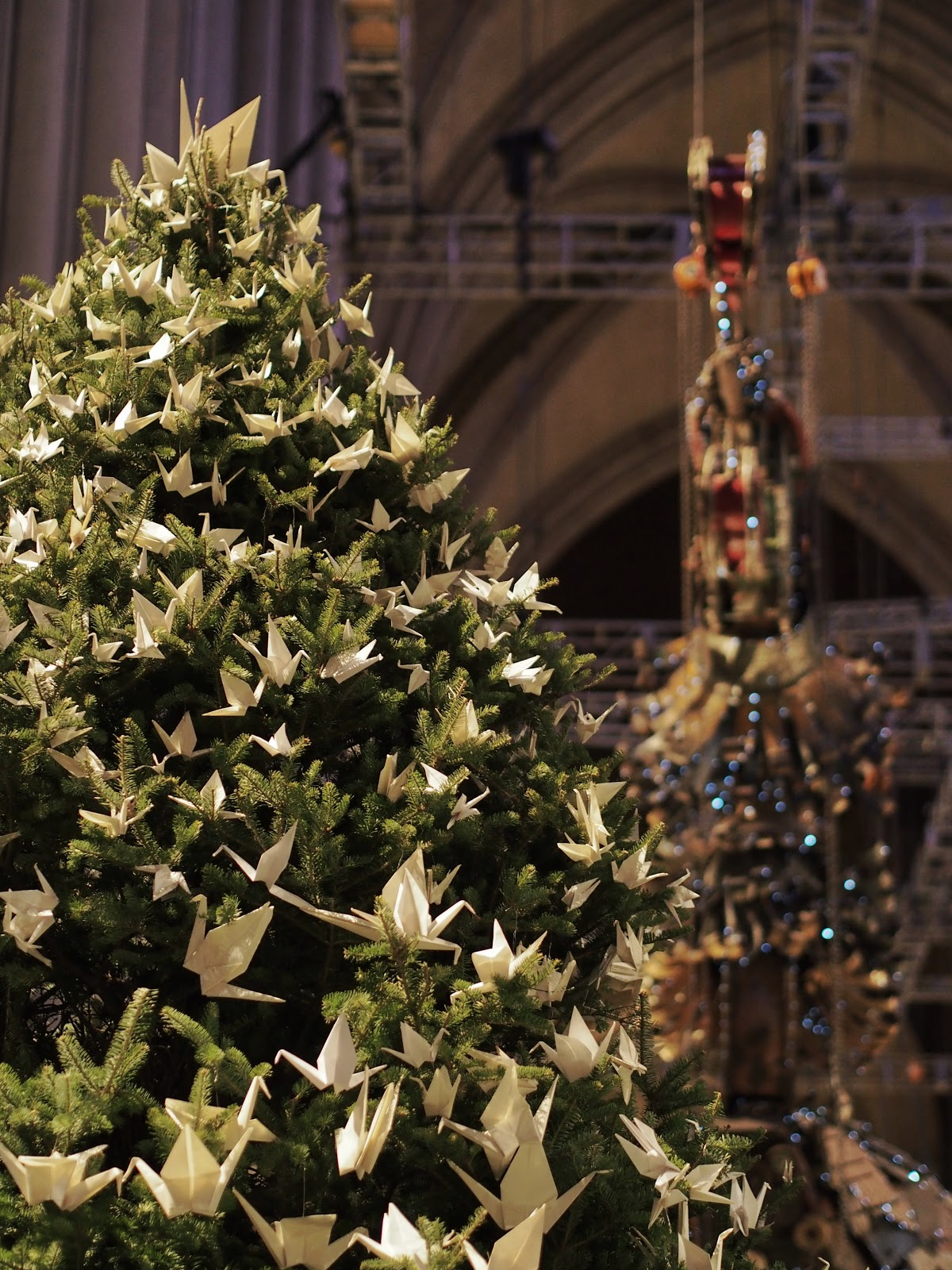 Peace Tree #peacetree #stjohnthedivinecathedral #nyc #holidaysinNYC #christmastree ©2014 Nancy Lundebjerg