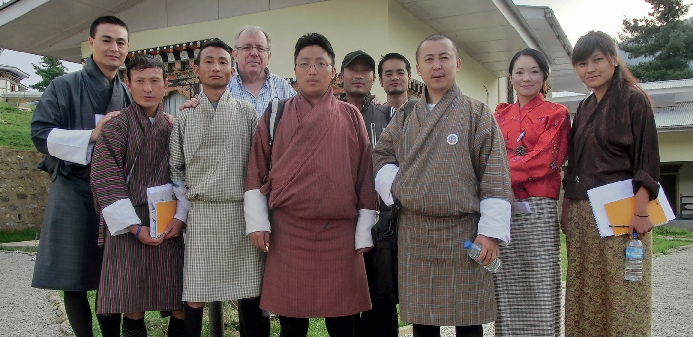 Bhutanese with their dress