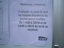 SNCF la gare : visez la bonne heure sinon c'est foutu