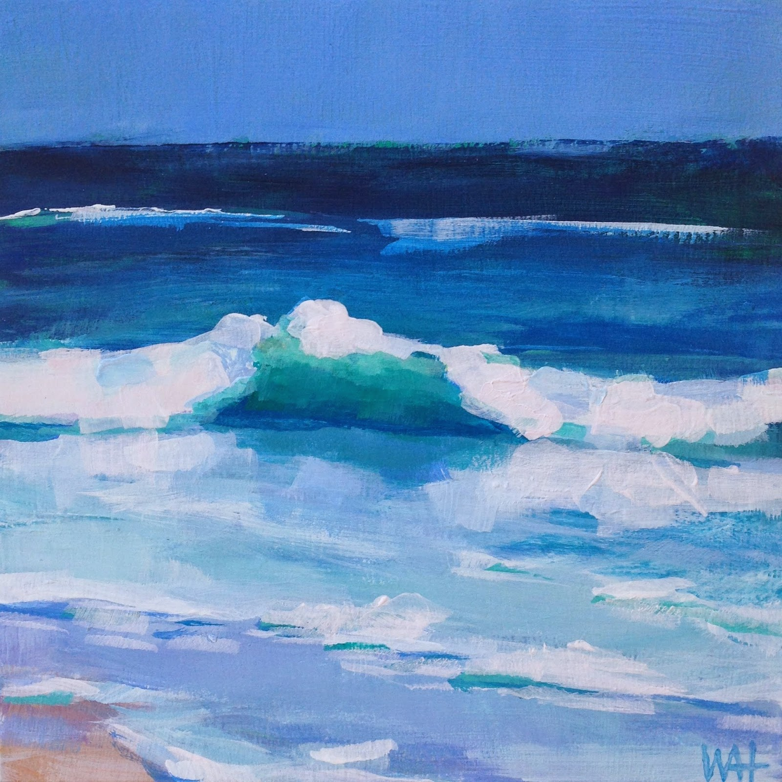 daily painter Whitney Heavey Cape Cod artist ocean waves