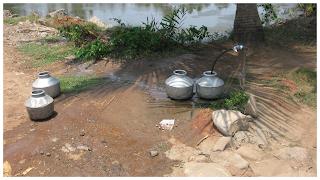 Empty pots: Nayarambalam Water scarcity image