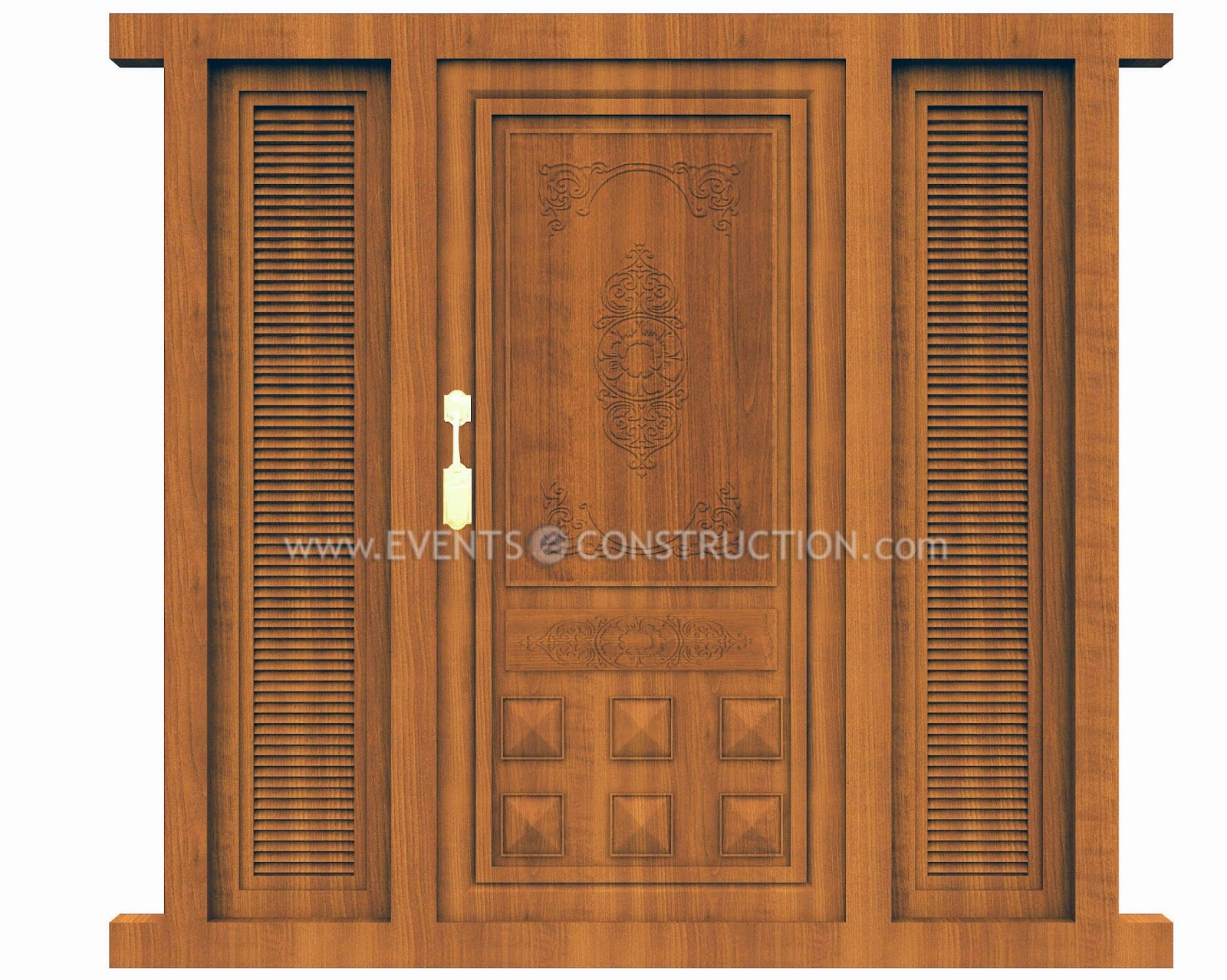 Evens construction pvt ltd wooden main door design for Modern single front door designs for houses