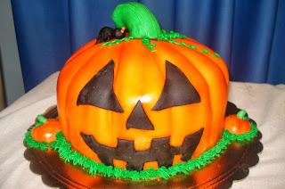 Tortas de Halloween con Calabazas, parte 1