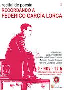 Recital Poesia- Recordando a Federico Garcia Lorca