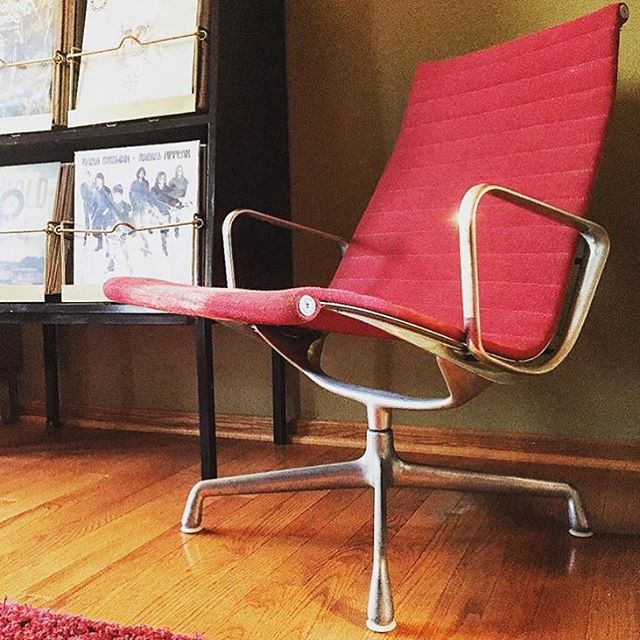 #thriftscorethursday Week 87 | Instagram user: junkfiend shows off this Spicy Red Eames for Herman Miller Chair