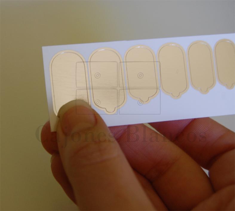 Cajones Blancos: Uñas efecto espejo