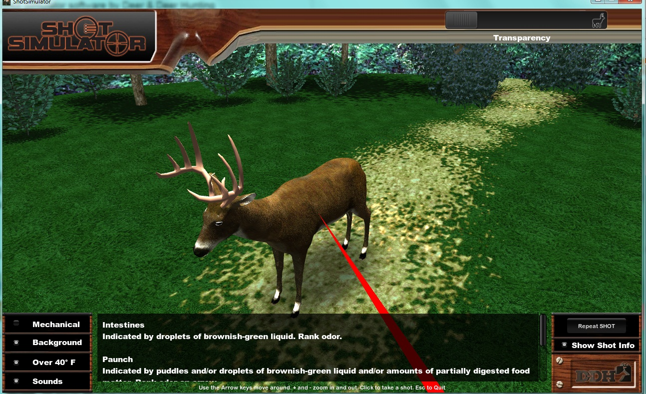 Shot simulator review by the unlucky hunter i thought this was good placement but i was wrong ccuart Choice Image