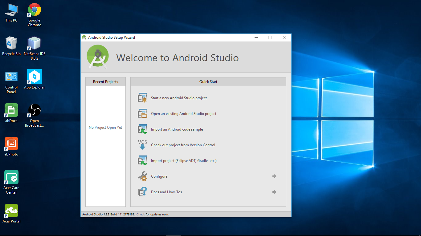 Android-er: Install Android Studio on Windows 10