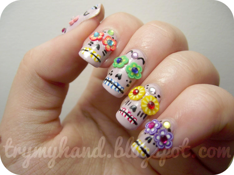 Try My Hand: NOTD : Dia de los Muertos Sugar Skulls